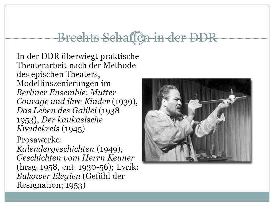 Brechts Schaffen in der DDR