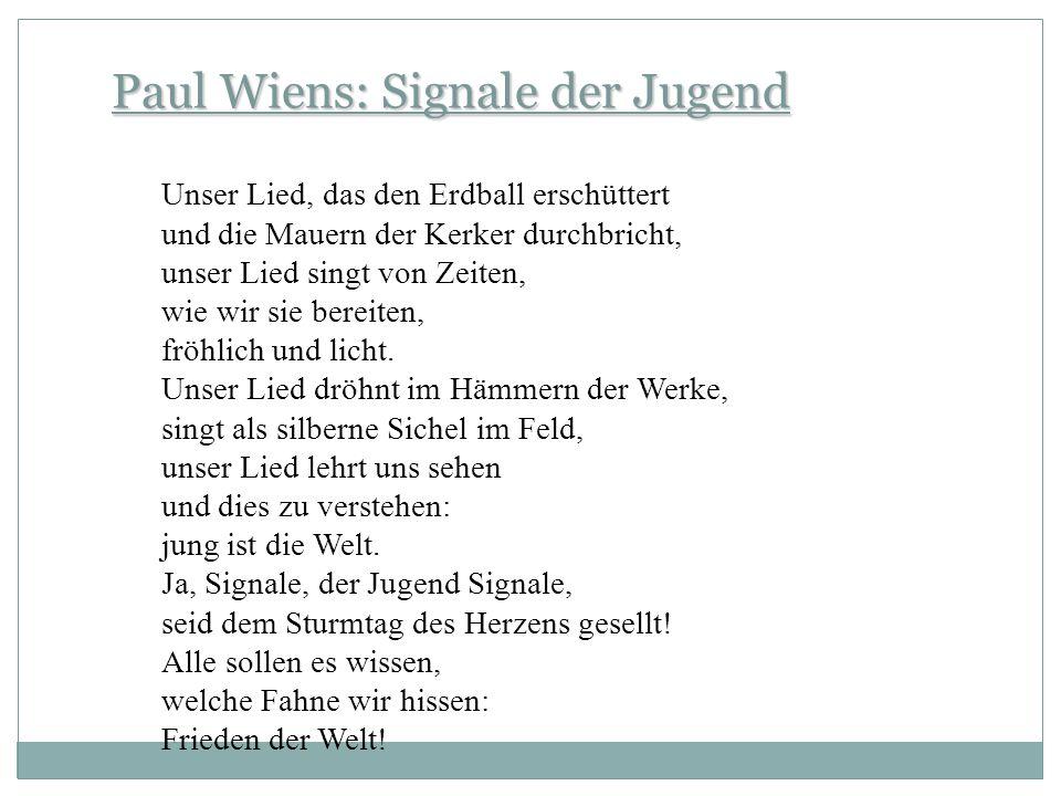 Paul Wiens: Signale der Jugend