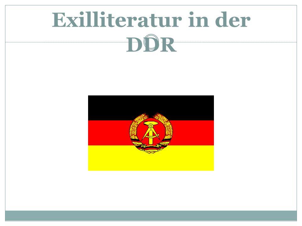 Exilliteratur in der DDR