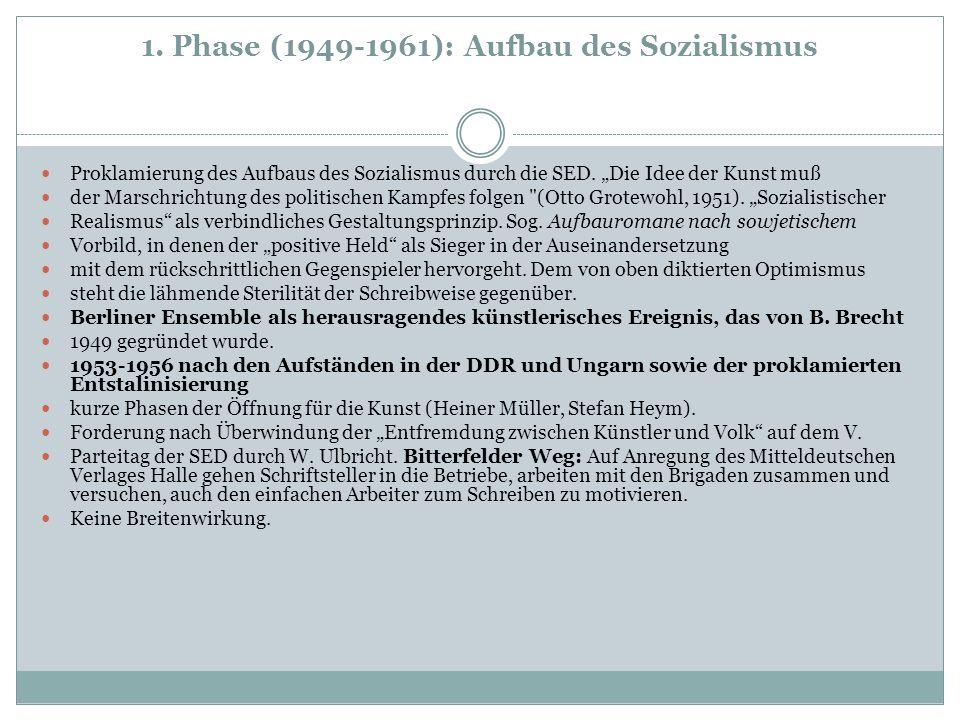 1. Phase (1949-1961): Aufbau des Sozialismus