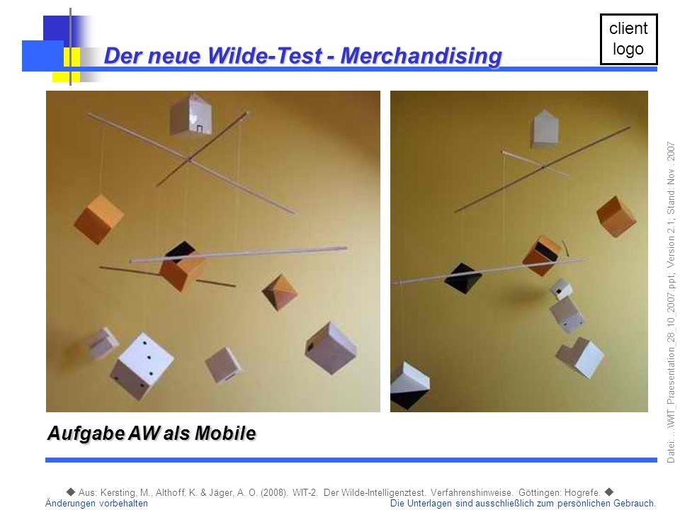 Der neue Wilde-Test - Merchandising