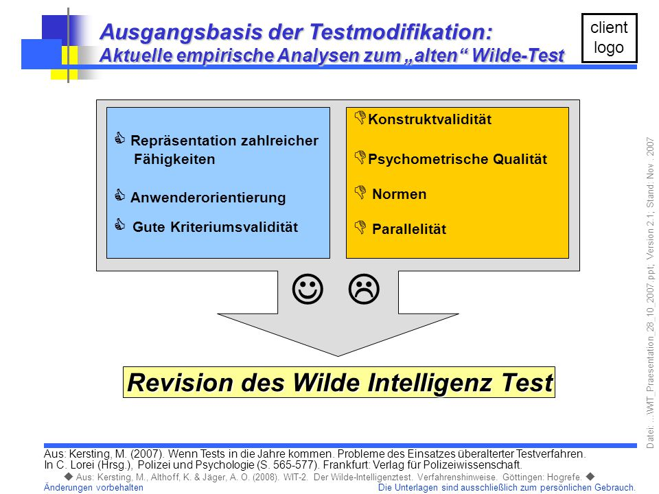 Revision des Wilde Intelligenz Test