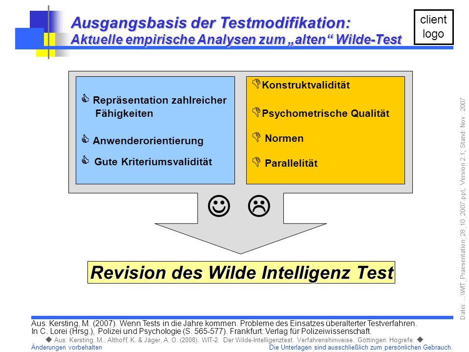 Revision des Wilde Intelligenz Test
