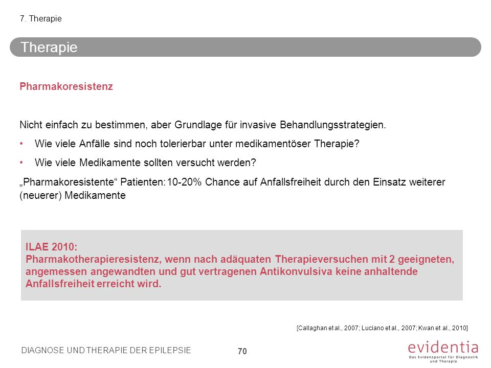 Therapie Pharmakoresistenz