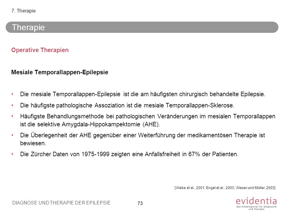 Therapie Operative Therapien Mesiale Temporallappen-Epilepsie