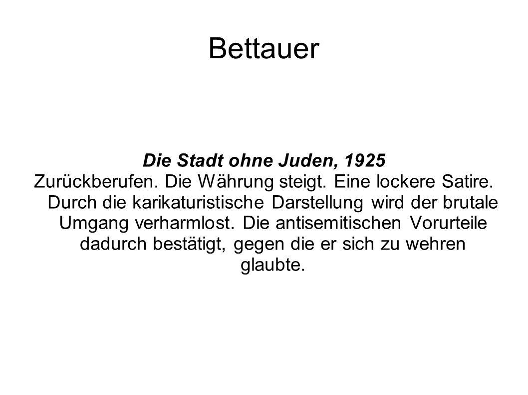 Bettauer Die Stadt ohne Juden, 1925
