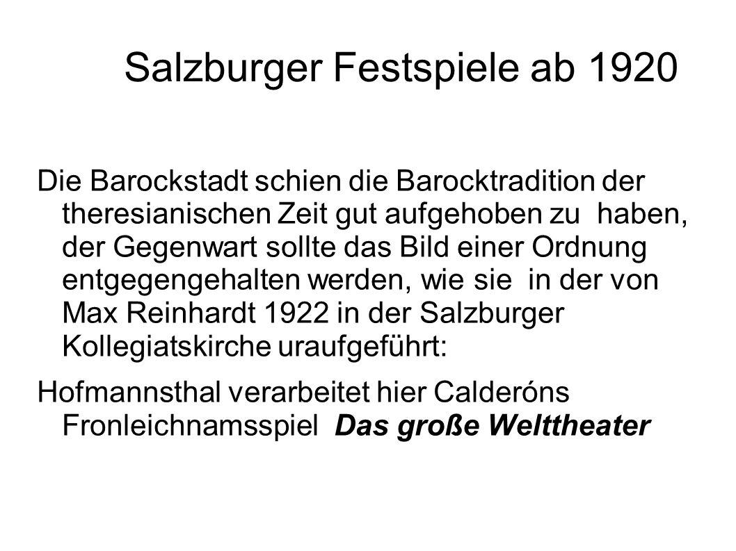 Salzburger Festspiele ab 1920