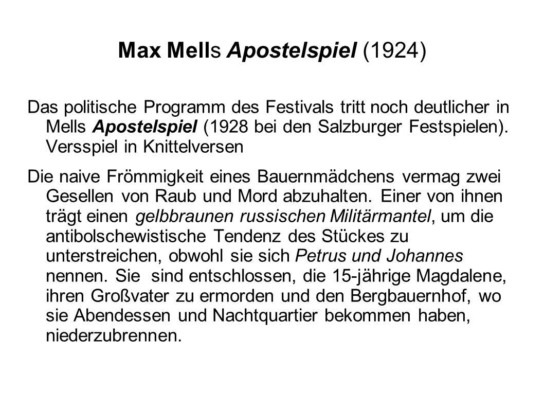 Max Mells Apostelspiel (1924)