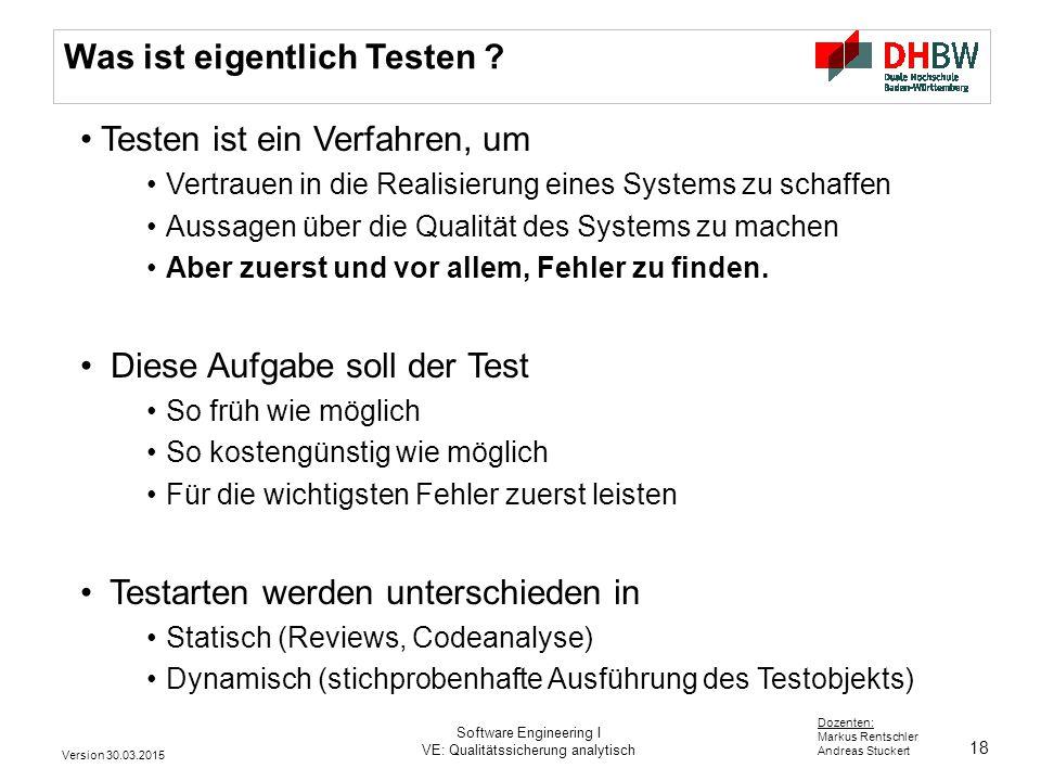 Was ist eigentlich Testen