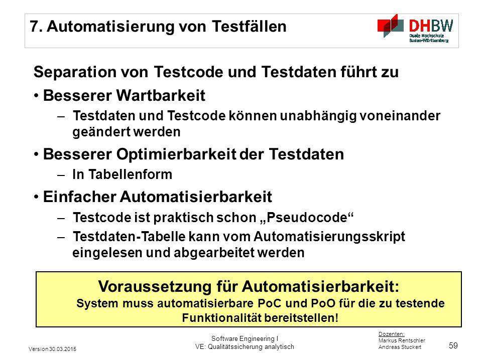 Voraussetzung für Automatisierbarkeit: