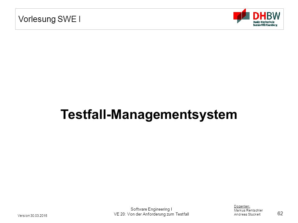 Testfall-Managementsystem