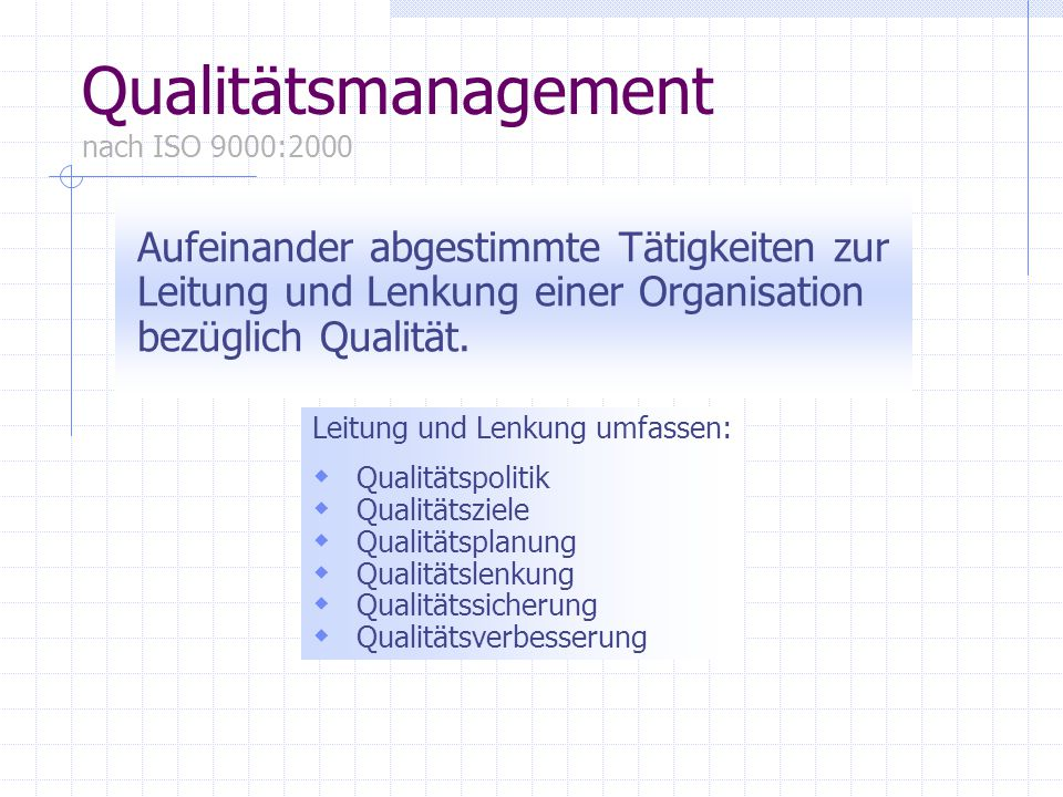 Qualitätsmanagement nach ISO 9000:2000