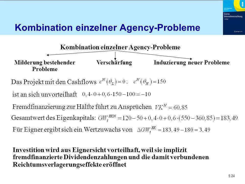 Kombination einzelner Agency-Probleme