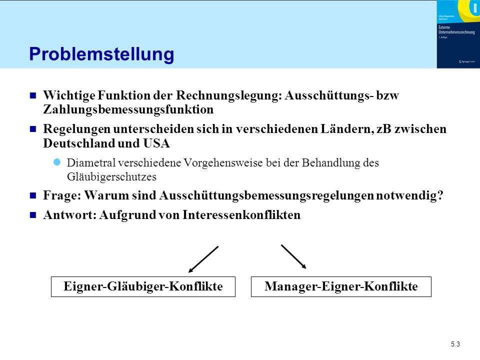Eigner-Gläubiger-Konflikte Manager-Eigner-Konflikte