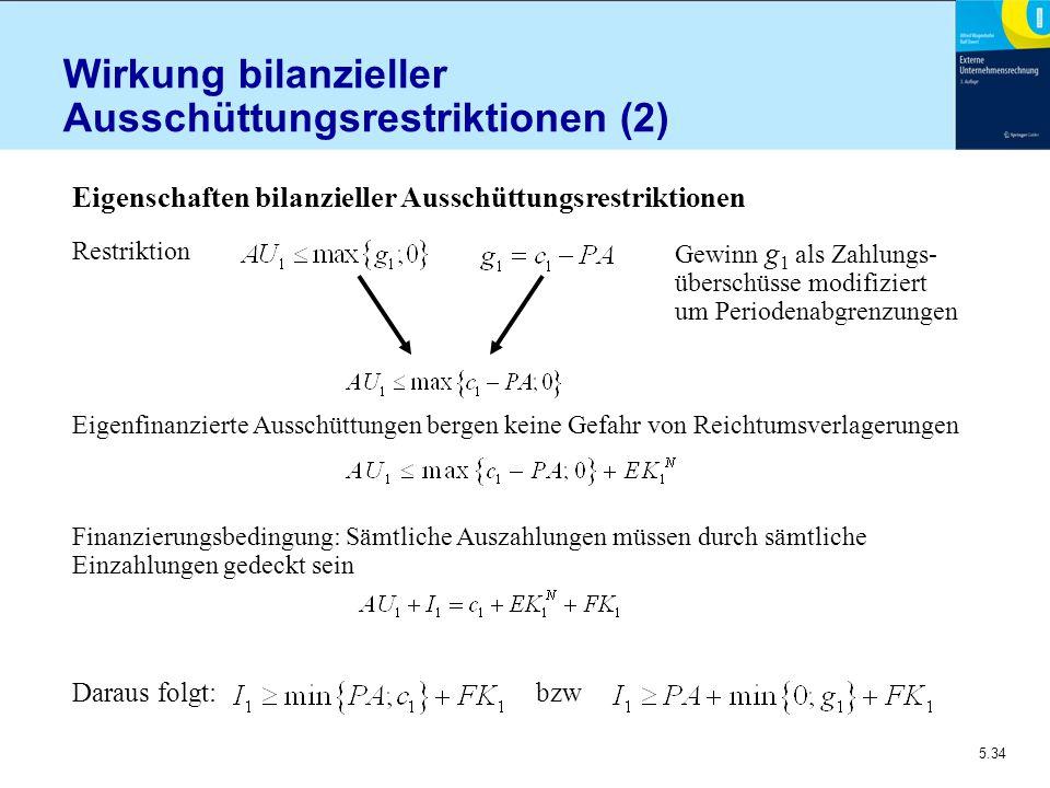 Wirkung bilanzieller Ausschüttungsrestriktionen (2)