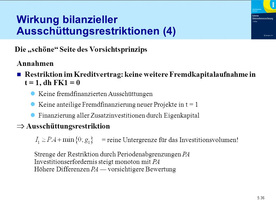 Wirkung bilanzieller Ausschüttungsrestriktionen (4)