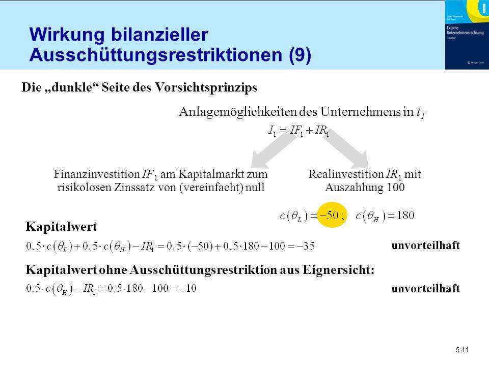 Wirkung bilanzieller Ausschüttungsrestriktionen (9)