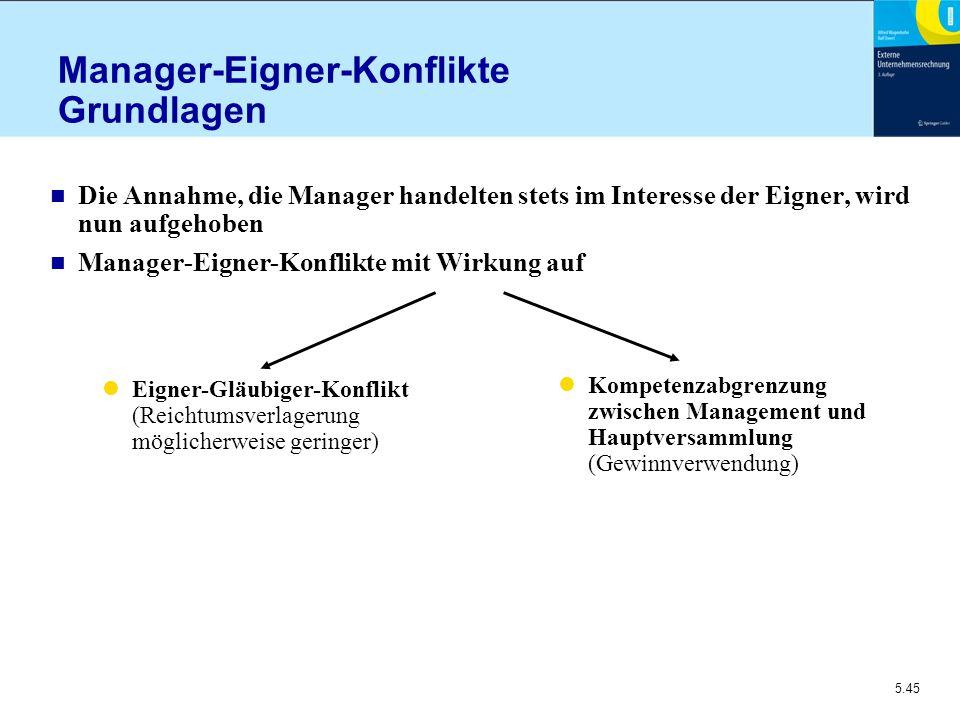 Manager-Eigner-Konflikte Grundlagen