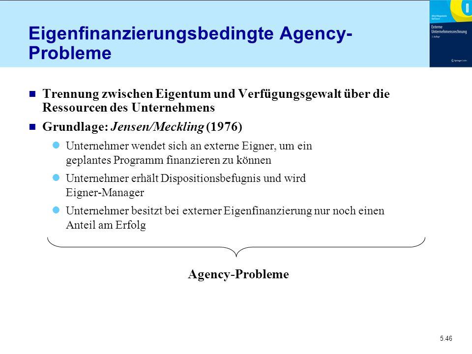 Eigenfinanzierungsbedingte Agency-Probleme