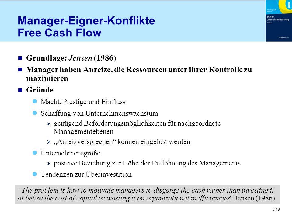 Manager-Eigner-Konflikte Free Cash Flow