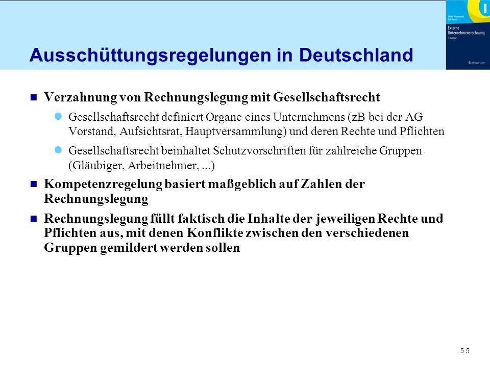 Ausschüttungsregelungen in Deutschland
