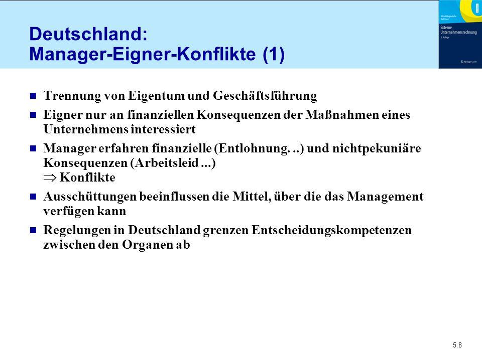 Deutschland: Manager-Eigner-Konflikte (1)