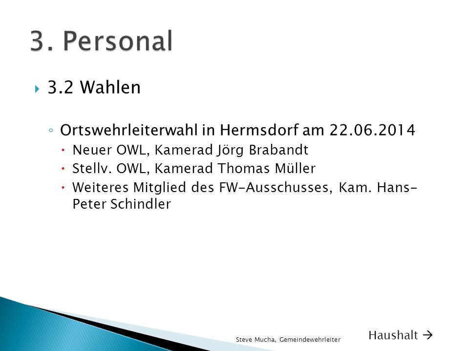 3. Personal 3.2 Wahlen Ortswehrleiterwahl in Hermsdorf am 22.06.2014