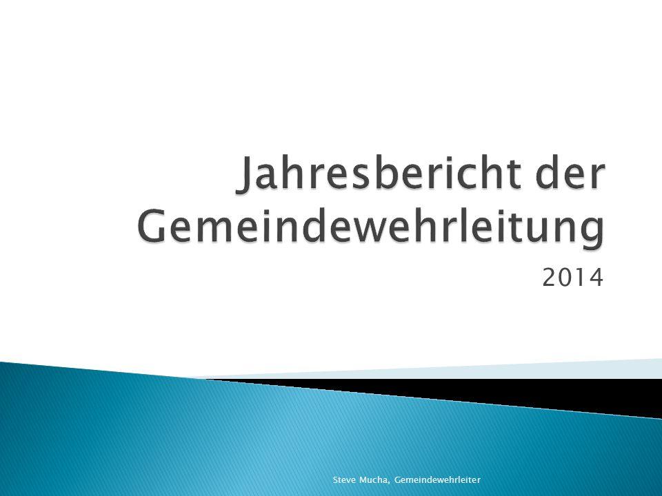 Jahresbericht der Gemeindewehrleitung