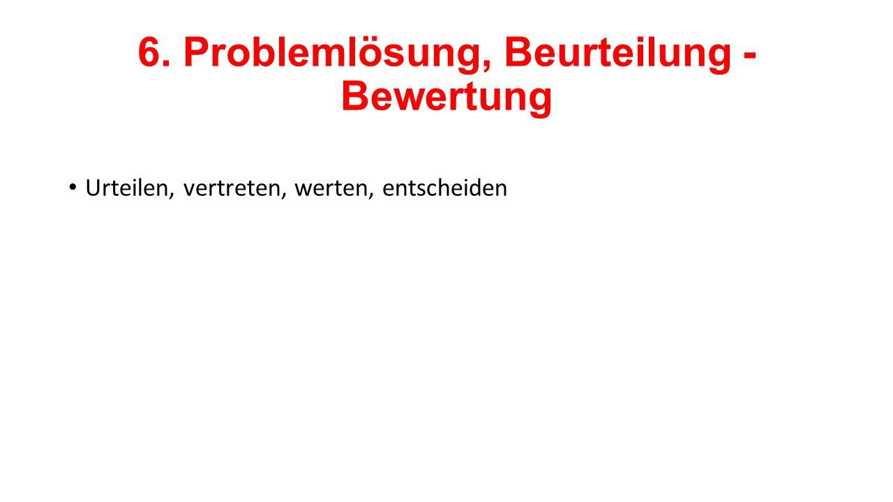 6. Problemlösung, Beurteilung - Bewertung