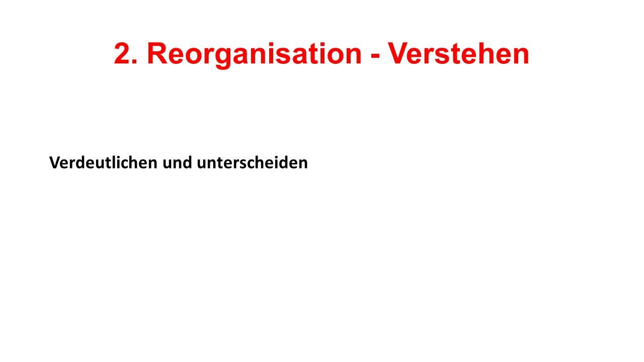 2. Reorganisation - Verstehen