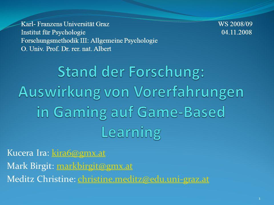 Karl- Franzens Universität Graz WS 2008/09