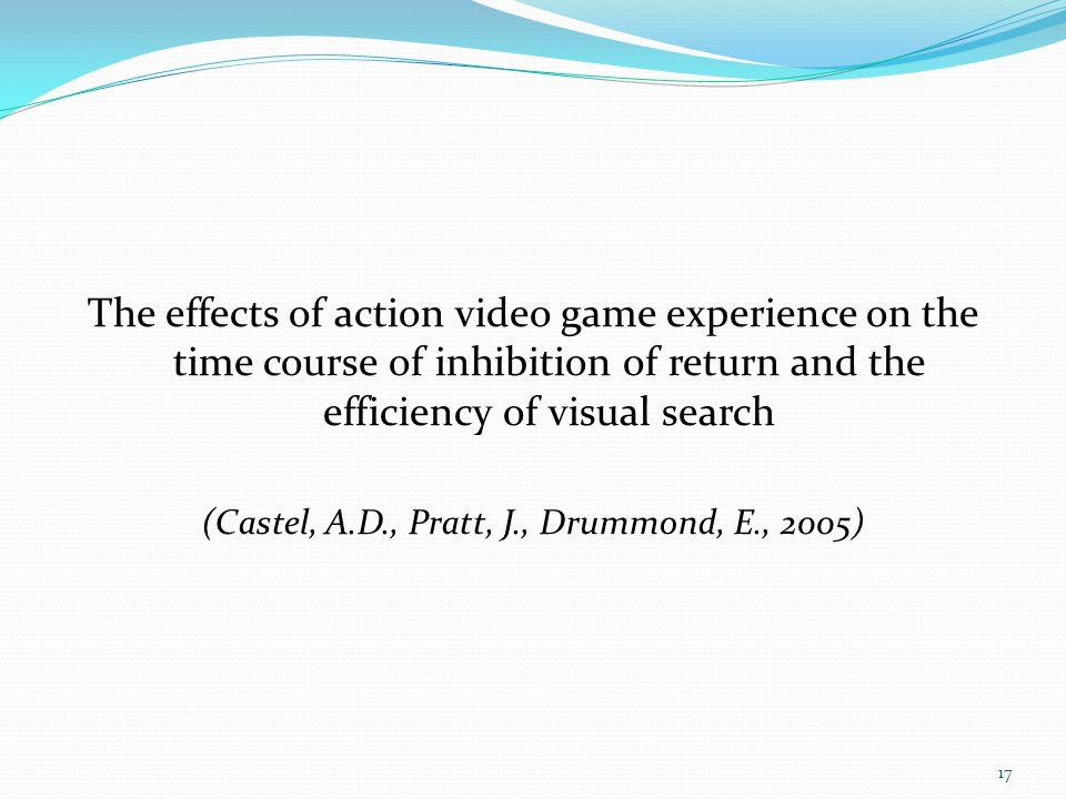 (Castel, A.D., Pratt, J., Drummond, E., 2005)