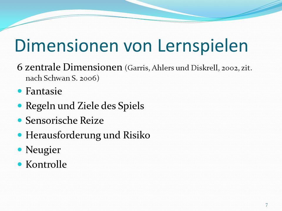 Dimensionen von Lernspielen
