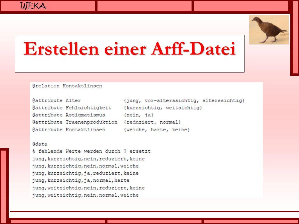 Erstellen einer Arff-Datei