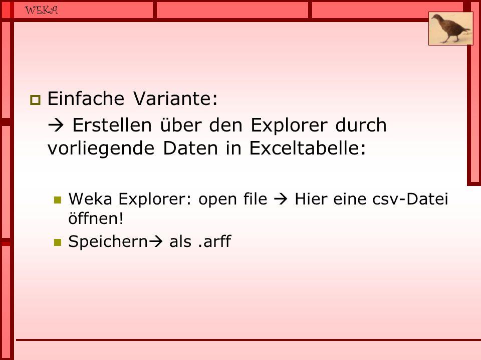 Erstellen über den Explorer durch vorliegende Daten in Exceltabelle: