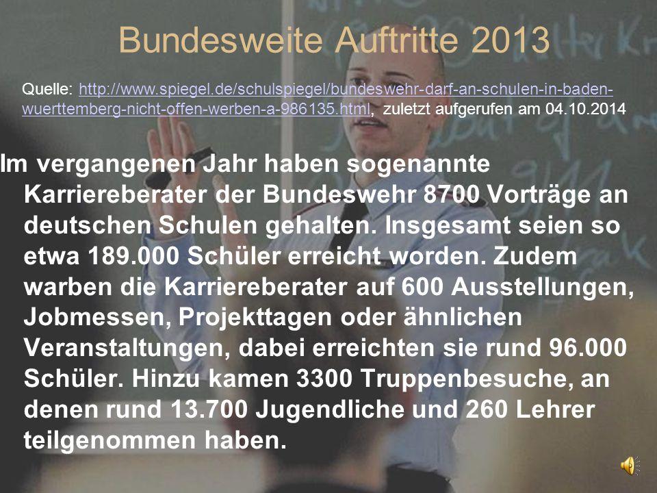 Bundesweite Auftritte 2013