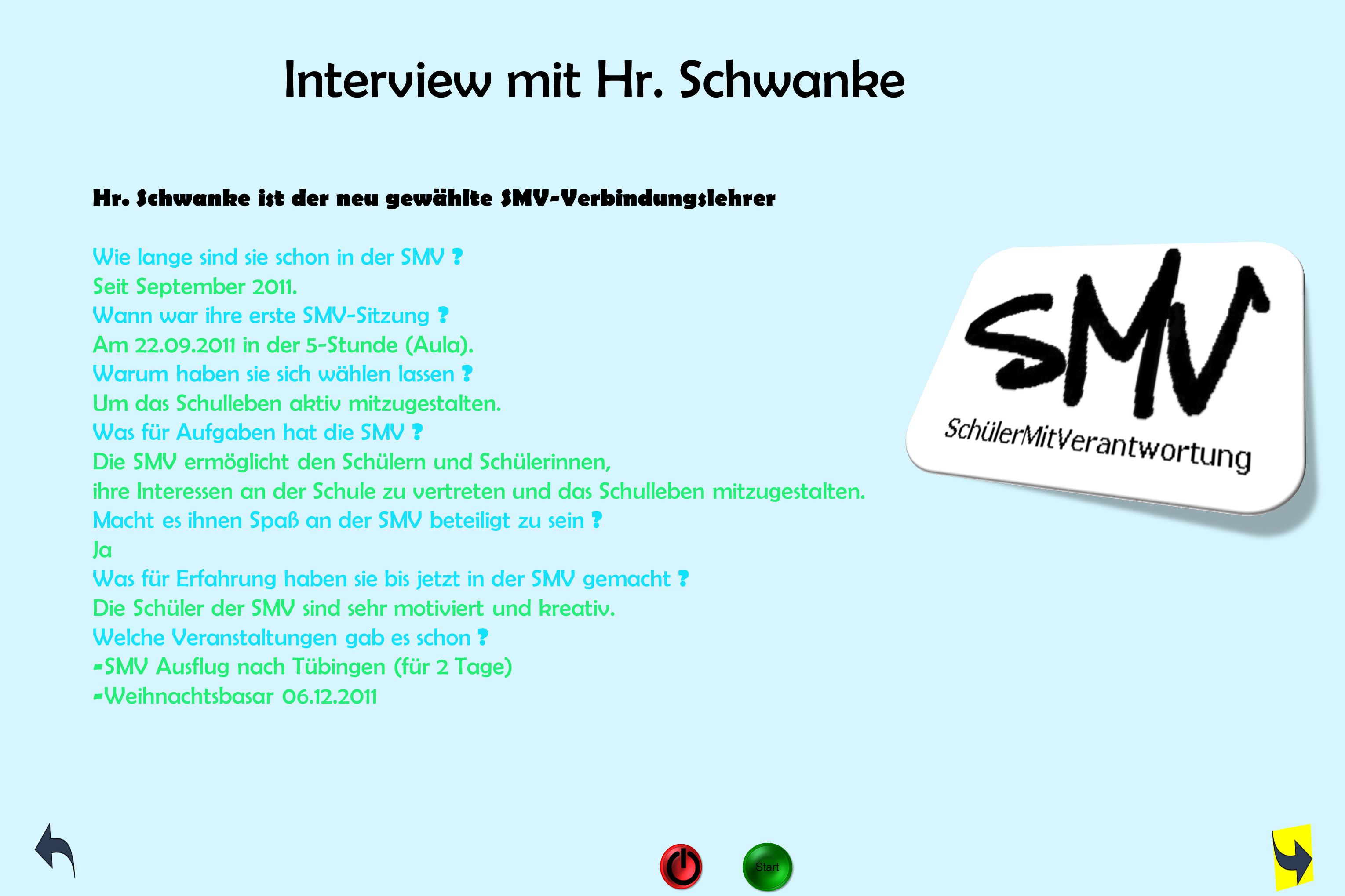 Interview mit Hr. Schwanke