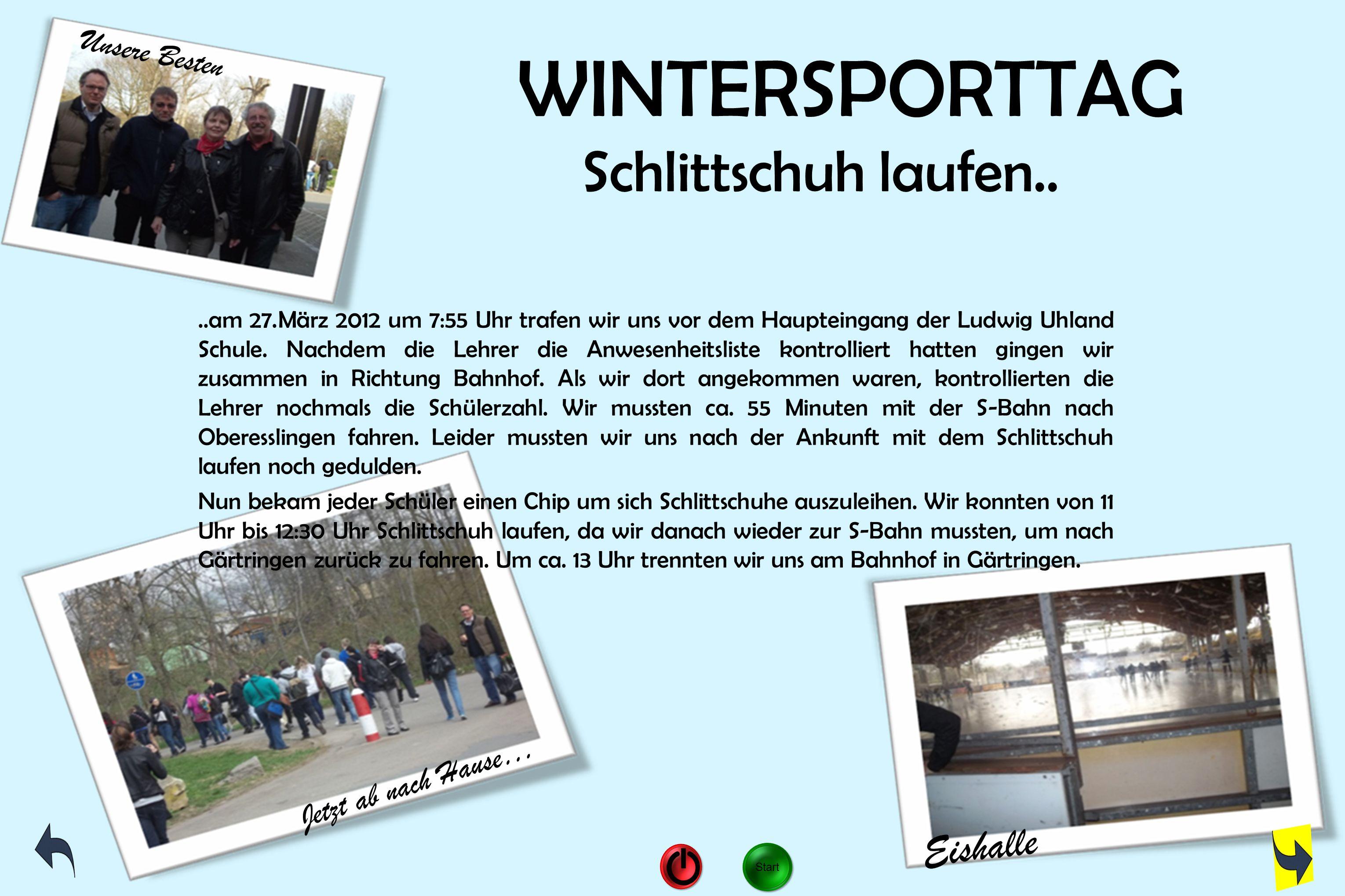 WINTERSPORTTAG Schlittschuh laufen..