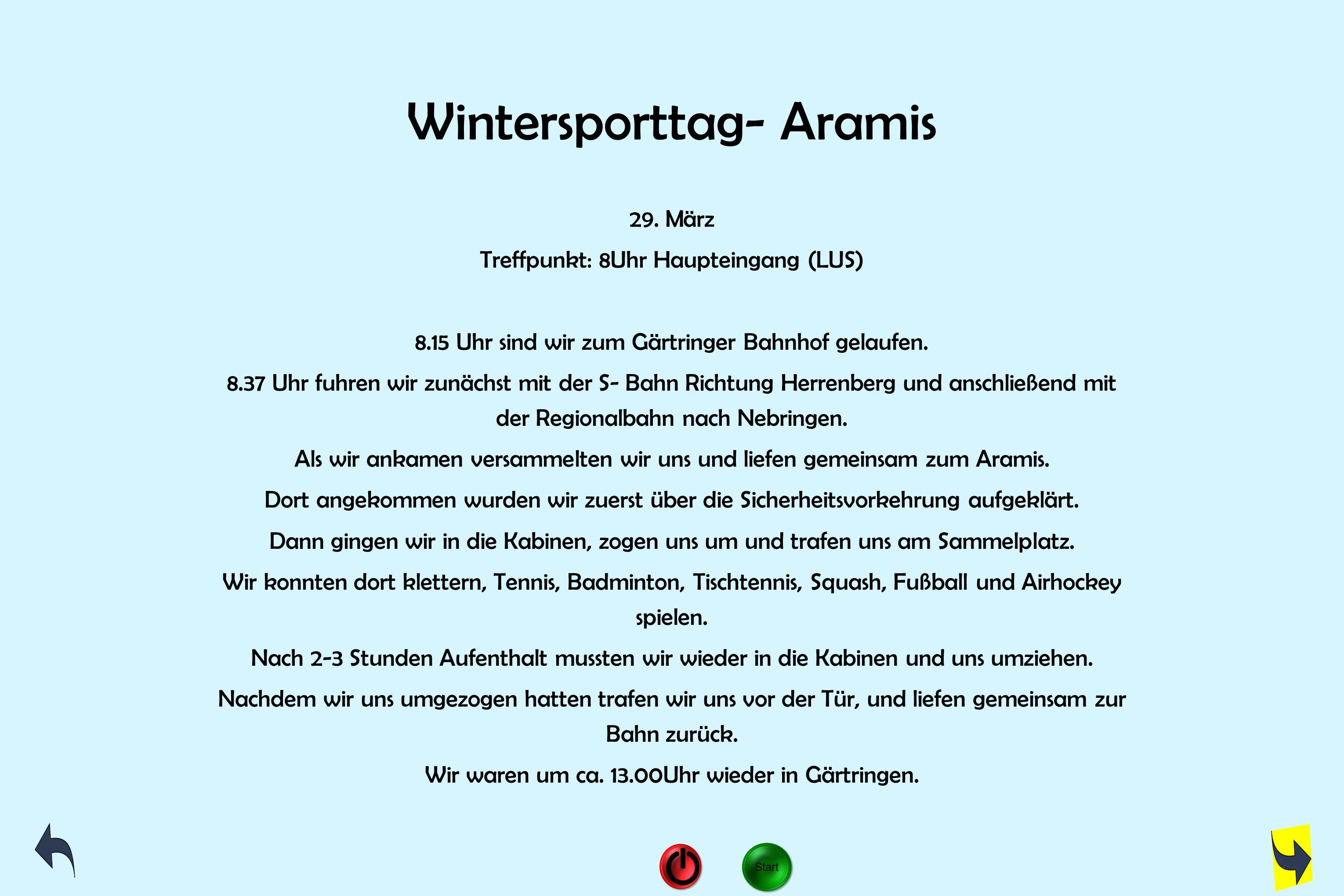 Wintersporttag- Aramis