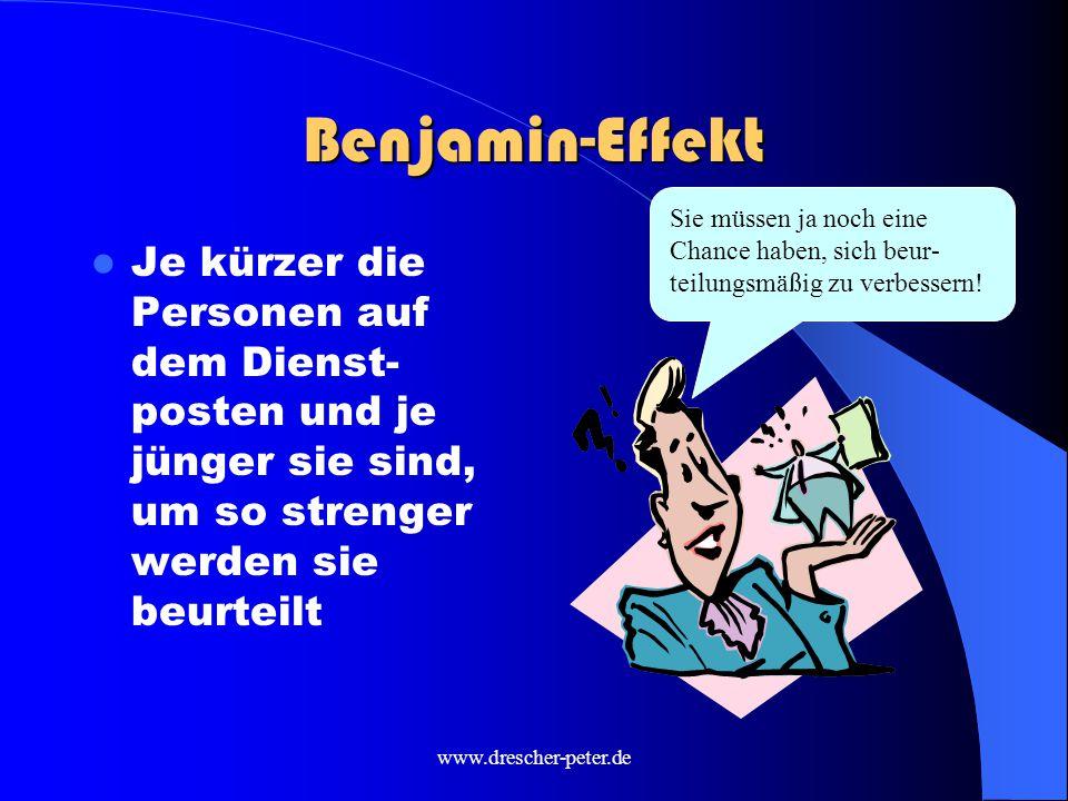 Benjamin-Effekt Sie müssen ja noch eine Chance haben, sich beur-teilungsmäßig zu verbessern!