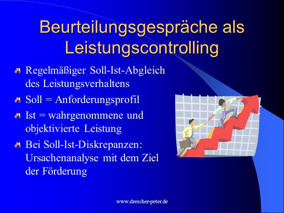 Beurteilungsgespräche als Leistungscontrolling