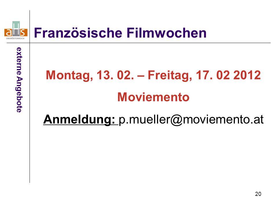 Anmeldung: p.mueller@moviemento.at