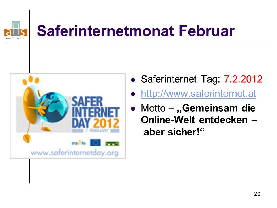 Saferinternetmonat Februar