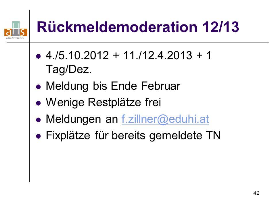 Rückmeldemoderation 12/13