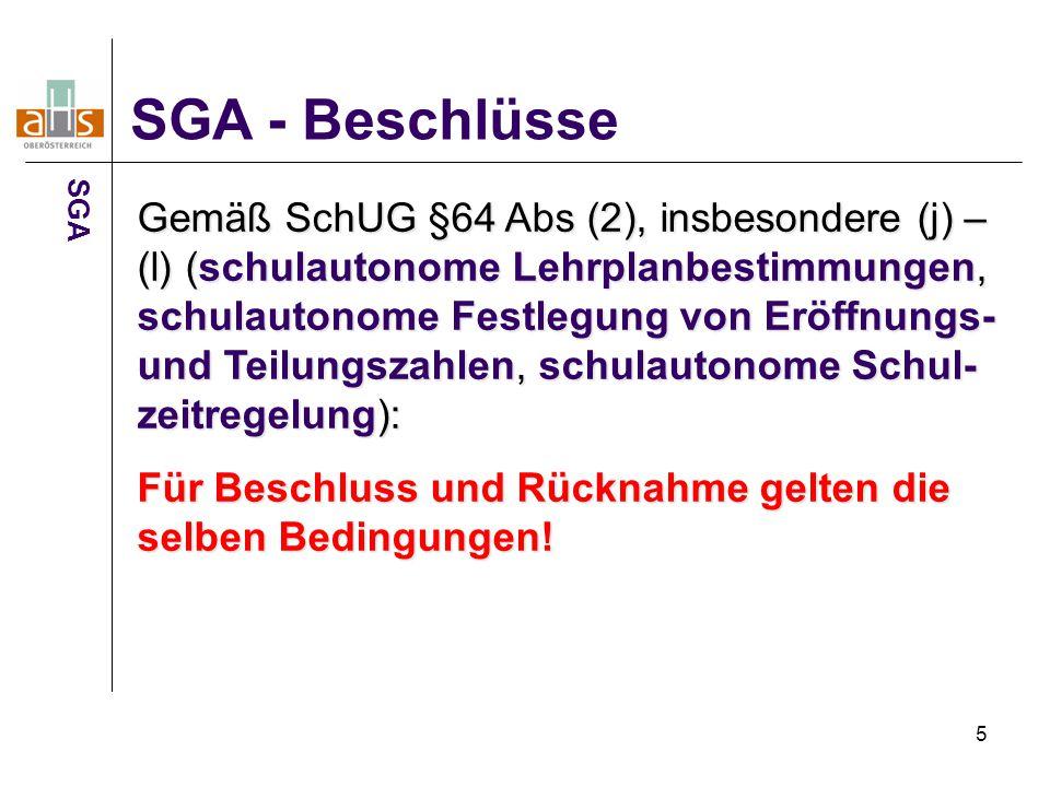 SGA - Beschlüsse SGA.