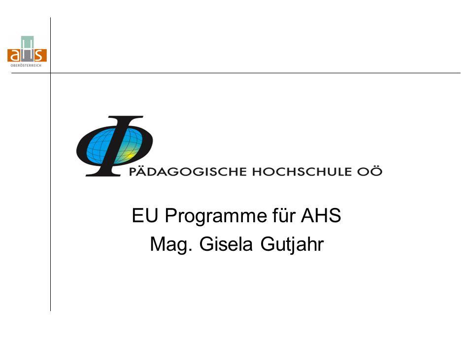 EU Programme für AHS Mag. Gisela Gutjahr