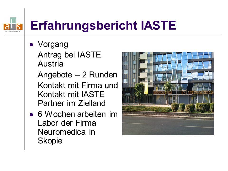 Erfahrungsbericht IASTE