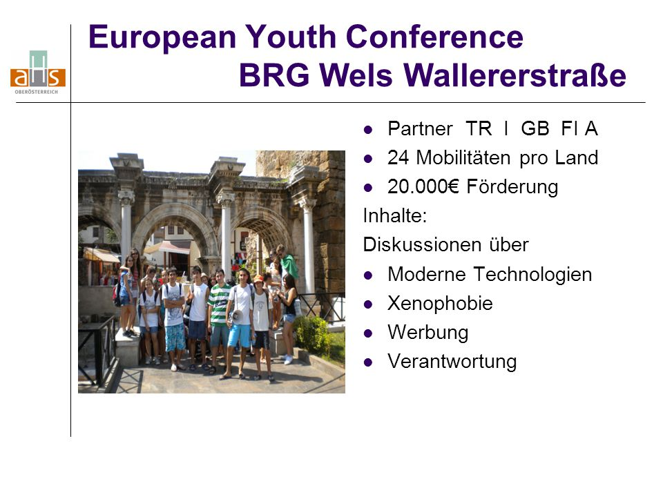European Youth Conference BRG Wels Wallererstraße