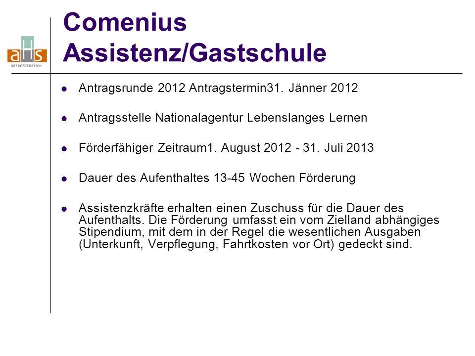 Comenius Assistenz/Gastschule