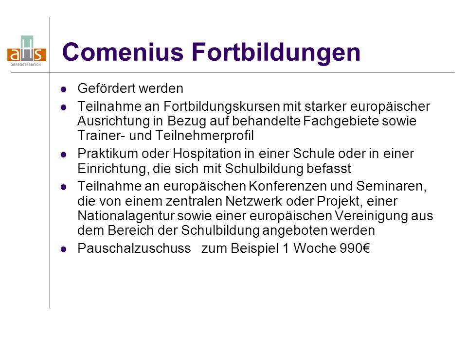 Comenius Fortbildungen